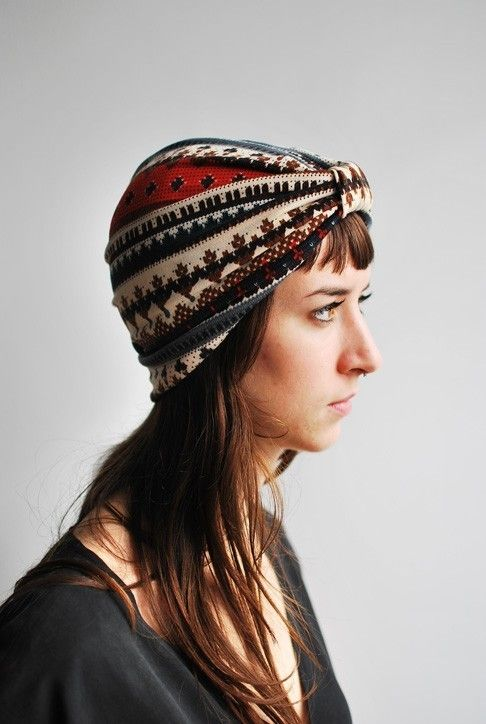 Jersey Turban from thefutureoffrances@etsy