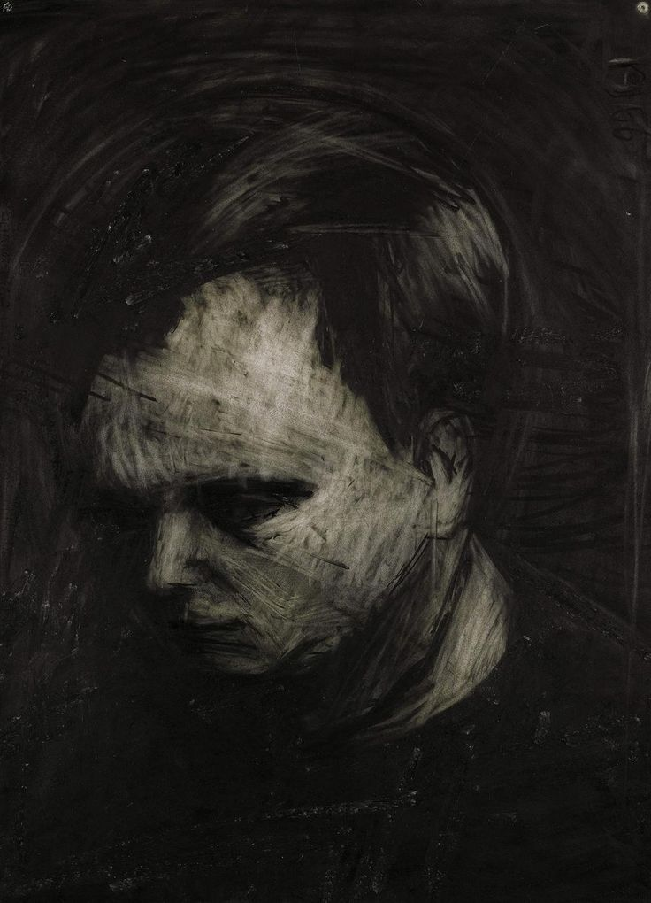 Frank Auerbach (British, b. 1931), Head of Leon Kossoff, 1956. Charcoal and chalk on paper, 76 x 56 cm.