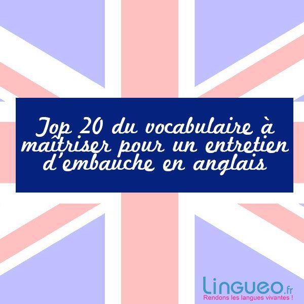 Top 20 du vocabulaire à maîtriser pour un entretien d'embauche en anglais
