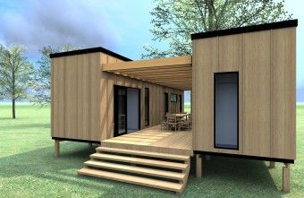 60m² - Two 40ft containers set parallel to each other, separating the living from the sleeping and in doing so, forming a private entertaining courtyard. The Trinidad makes the most of a small space, maximising indoor-outdoor flow.