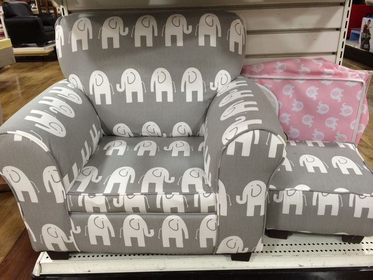 Gray And White Elephant Toddler Chair At Home Goods So