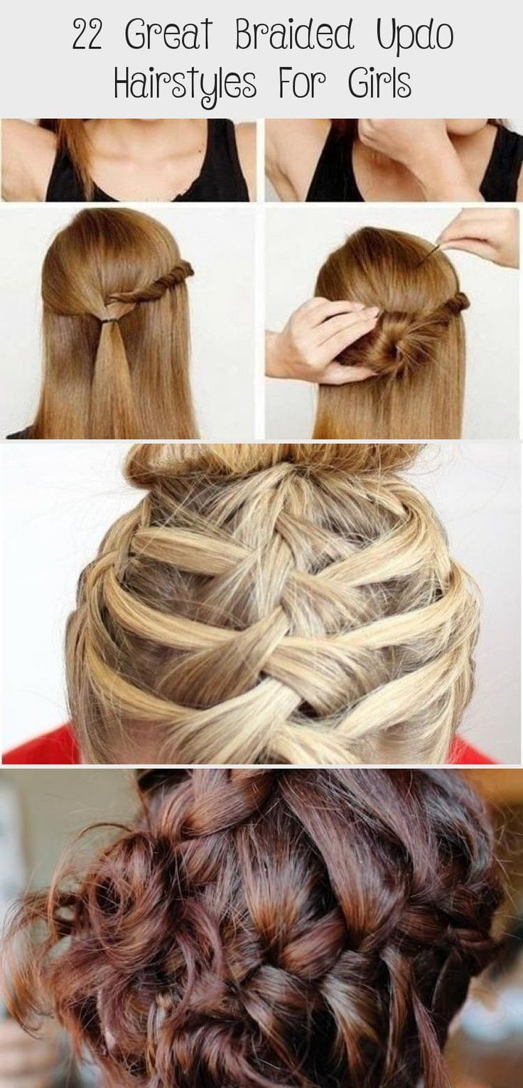 Easy Braided Updo for Everyday Hairstyles #EverydayHairstyles Boho #EverydayHairstyles Vintage # ...