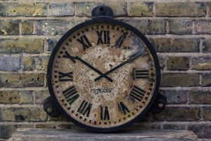Genuine Cast Gents of Leicester Vintage Industrial Factory Station Wall Clock