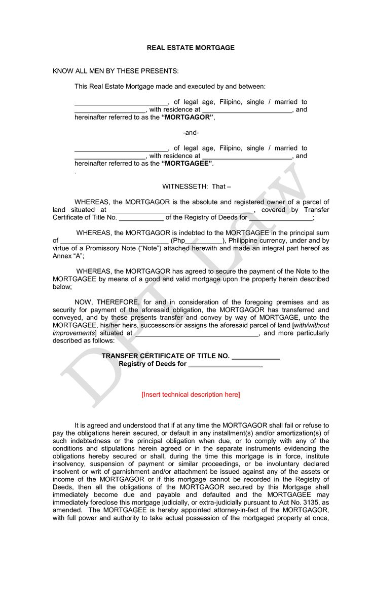 Real Estate Mortgage With Promissory Note - How to create a Real Estate Mortgage With Promissory Note? Download this real estate Real Estate Mortgage With Promissory Note template now