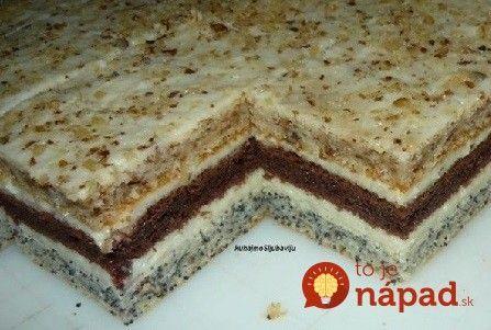 """3 druhy cesta a ten najlepší mliečny krém: Luxusný zákusok """"torta na plechu""""!"""