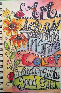 art journal ideas; [great pin by @Vicki Smallwood Smallwood Smallwood Smallwood Smallwood Weir - one of many. Thanks Vicki]