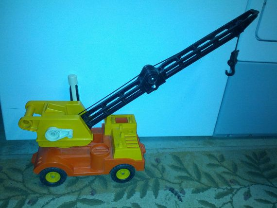 Toy Cranes For Boys : Vintage fisher price crane truck  s retro