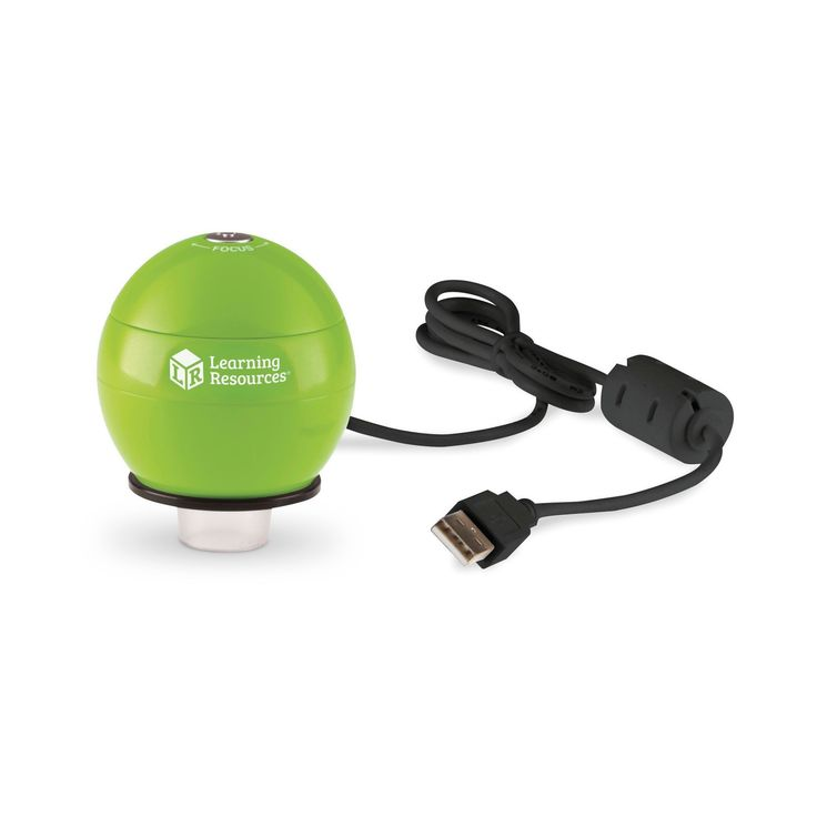 Learning Resources Zoomy 2.0 Green Handheld Digital Microscope