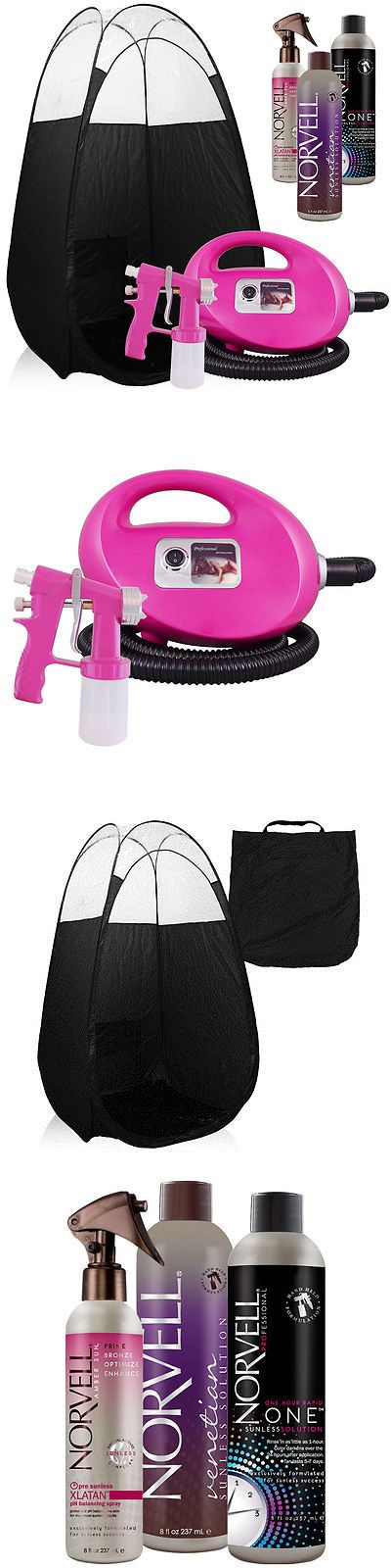 Airbrush Tanning Kits: Pink Fascination Fx Spray Tanning Kit With Norvell Tan Solution And Black Tent BUY IT NOW ONLY: $209.0
