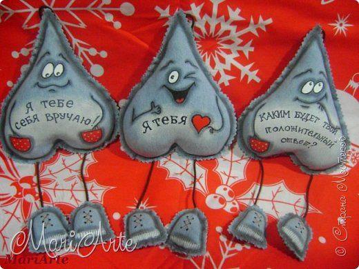 Поделка изделие Валентинов день Шитьё Джинсовые сердечки Клей Краска Нитки Ткань фото 1