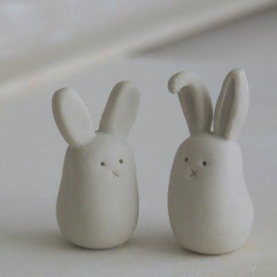 Little clay bunnies tutorial - so cute!