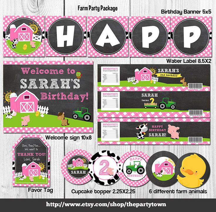 Farm Party Package Barn Party Package Girl Farm Party Package Old Mc Donald Birthday Farm Birthday by ThePartyTown on Etsy https://www.etsy.com/listing/221260129/farm-party-package-barn-party-package