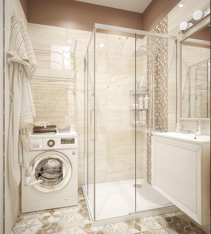 Подходящее решение для маленькой ванной - душевая кабина.