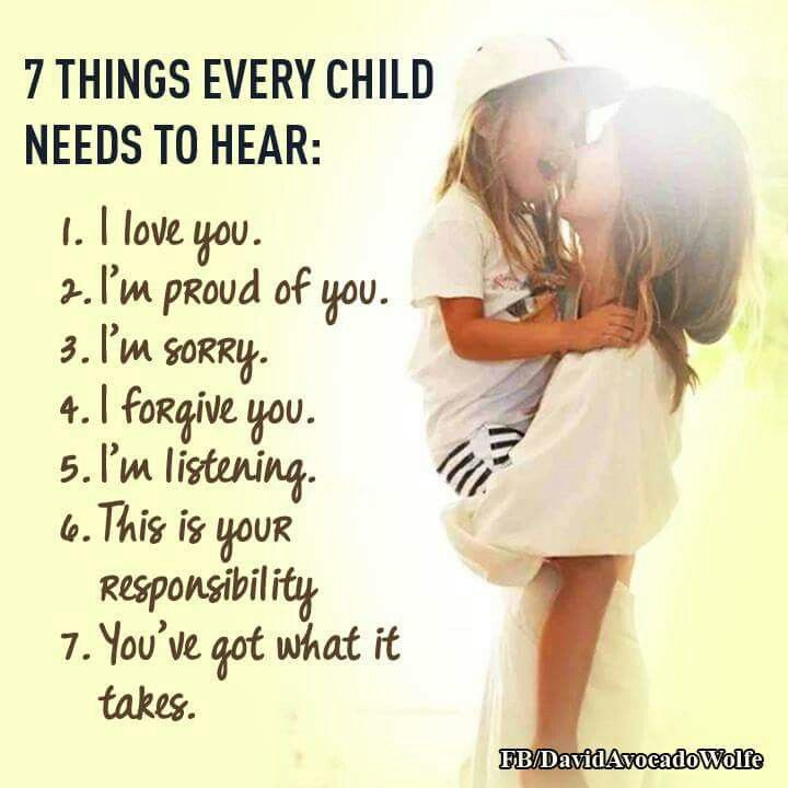 7 Things Every Child Needs To Hear