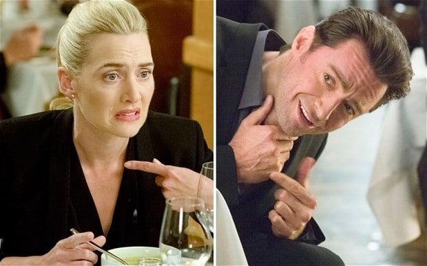 Kate Winslet and Hugh Jackman star in Movie 43