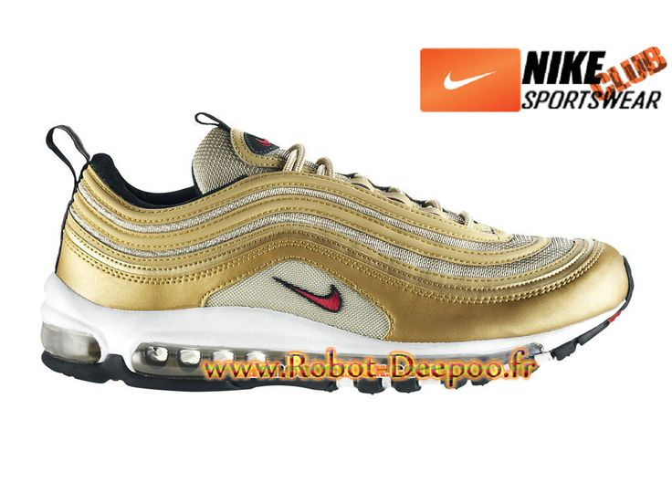 "Nike Air Max 97 OG ""Gold Olympic"" Chaussures Nike Basket Pas Cher Pour Homme Or 312641-700"