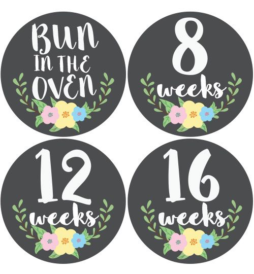 Floral Pregnancy Belly Stickers