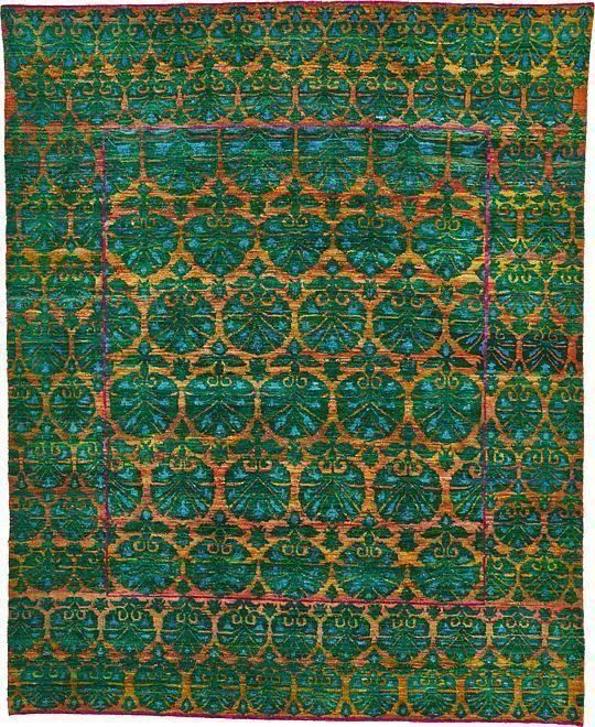 Green Sari Area Rug