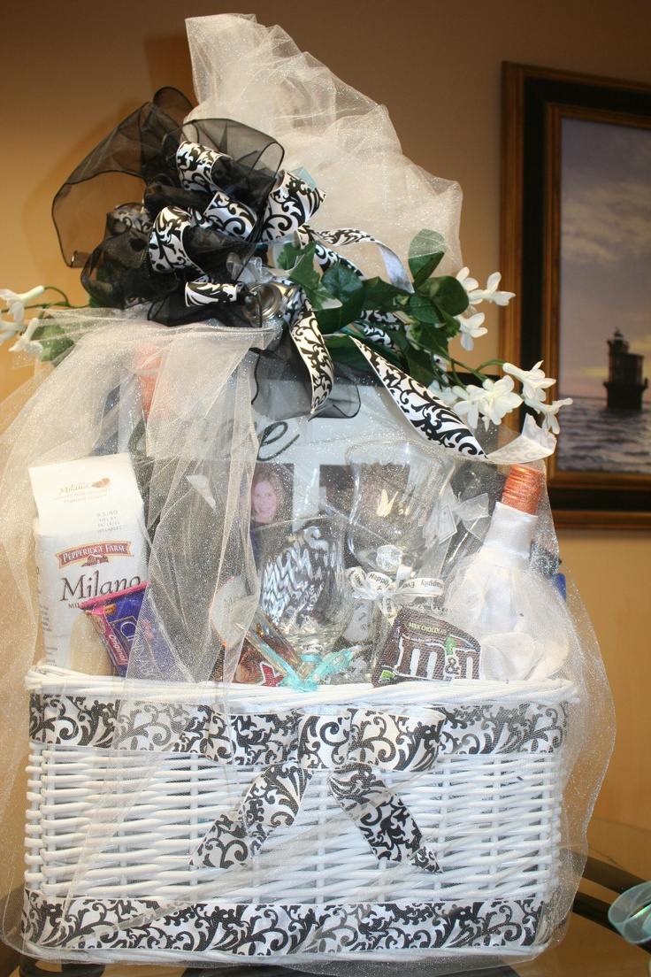 Bridal gift basket i like the outside