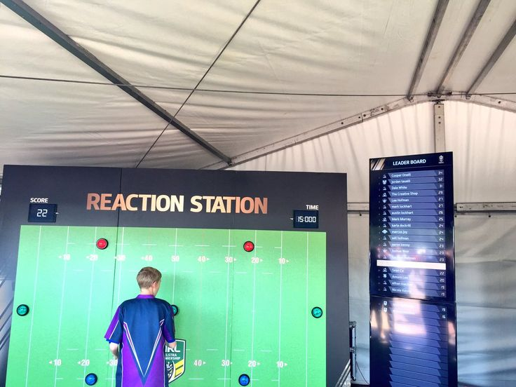 Plenty of #fanengagement on for @NRL fans outside @ANZStadium with this 'Virtual Boot' & 'Reaction Station' #NRLGF #fanexperience