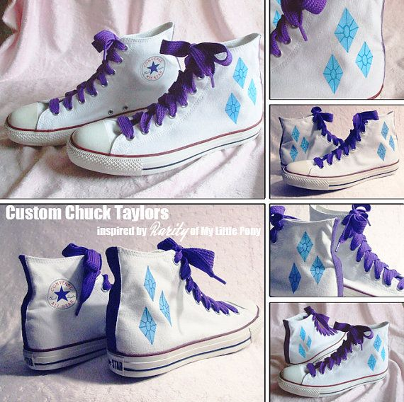 Custom Chuck Taylors Rarity My Little Pony by NellaNell on Etsy, $85.00
