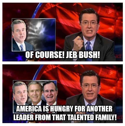 Funny Memes Skewering the 2016 GOP Candidates: Stephen Colbert on Jeb Bush