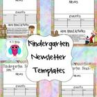 This is a set of 34 Kindergarten Newsletter Templates that include ideas for some basic home activities for both Literacy and Math.  They are edita...
