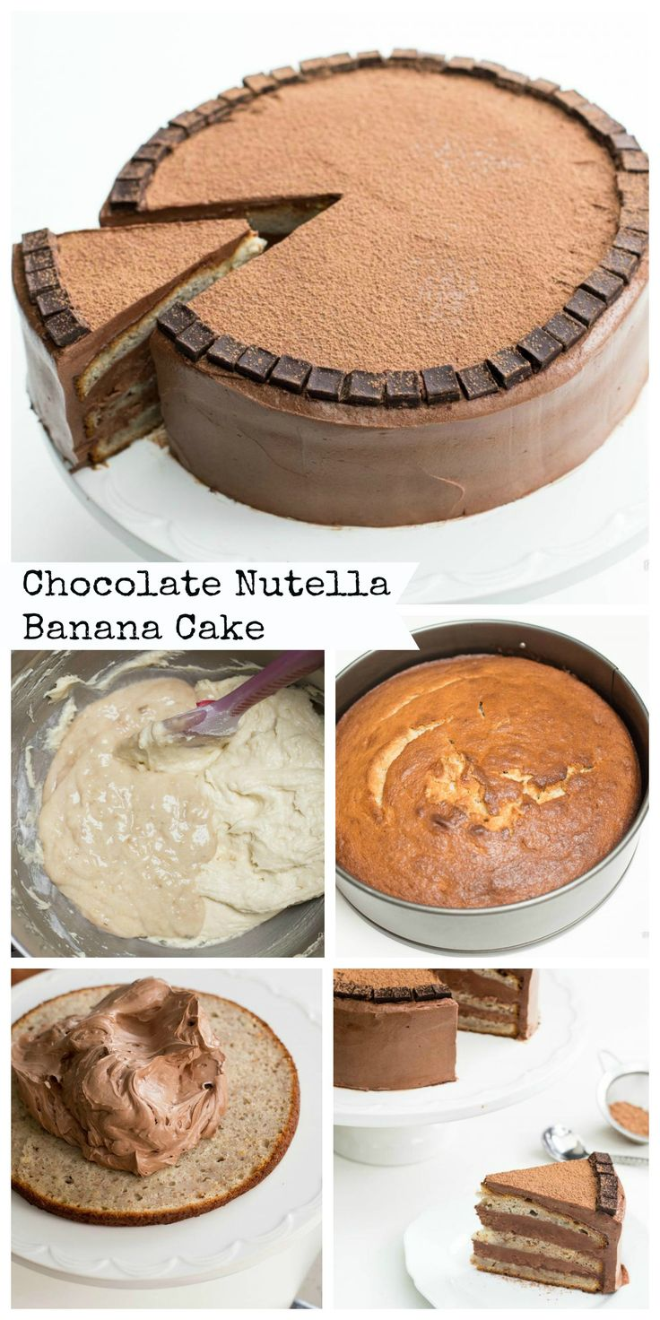 """This recipe is saturated with the goodness of chocolate and banana cake. """"Rich"""" describes this cake well."""