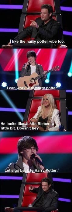 The Voice :) hahaJustin Bieber, Remember This, Harrypotter, Blake Shelton, Funny, Smart Kids, Harry Potter, Life Choice, The Voice
