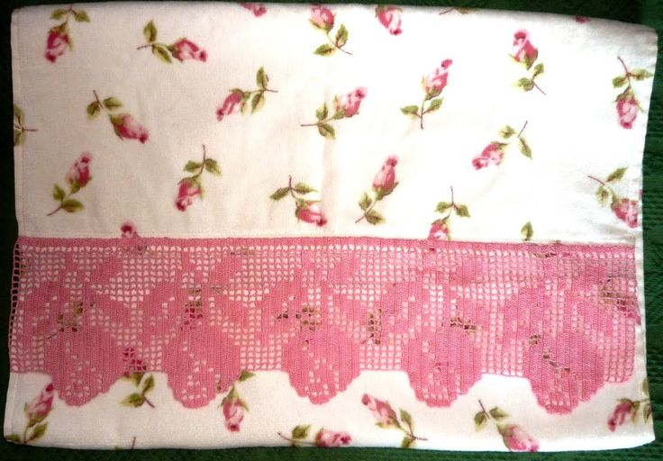 crochet em revista: toalhas turcas