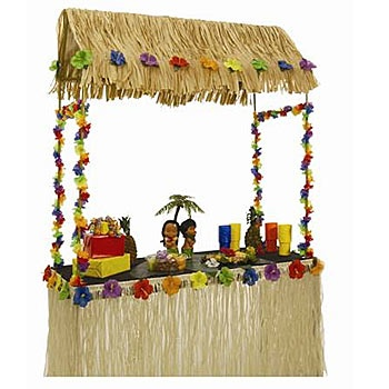 Exceptional Tabletop Tiki Hut This 55 Inches High X 56 Inches Wide X 22 Inches Deep Hut  Is Perfect For Topping Off Your Decorations. The Metal Framed Tiki Hut U2026