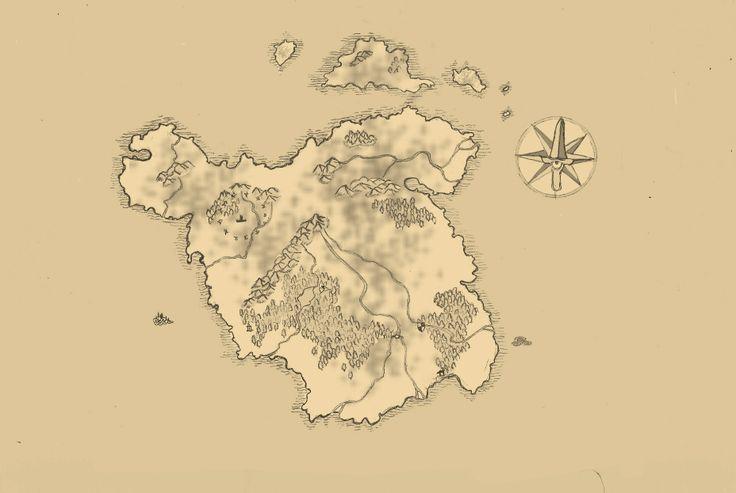 un'altra mappa pronta per un libro fantasy ancora in fase di progettazione (ancora senza nomi)