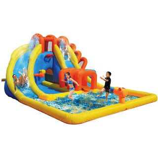 Inflatable Water Slides. The girls want one :-)