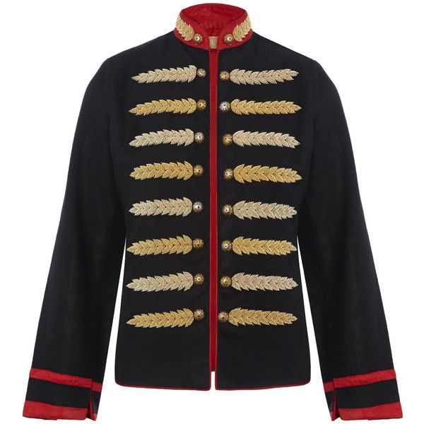 Nadya Shah Military Dilemma Jacket ($1,325) ❤ liked on Polyvore featuring outerwear, jackets, jacket's, navy, military inspired jacket, mandarin-collar jackets, navy blue military jacket, fashion military jacket and navy jackets