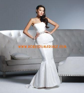 David Tutera by Faviana robe de mariée originale glamour sirène décorée de cristal taffetas Style Madeston