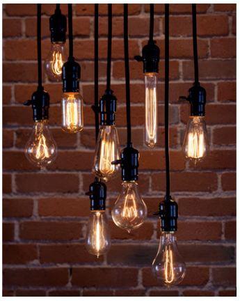 Decorate with beautiful lightbulbs