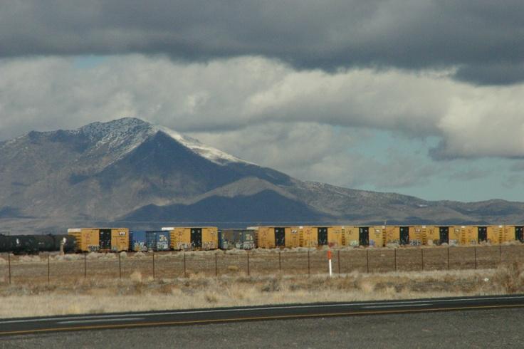 Freight train through Eastern Nevada