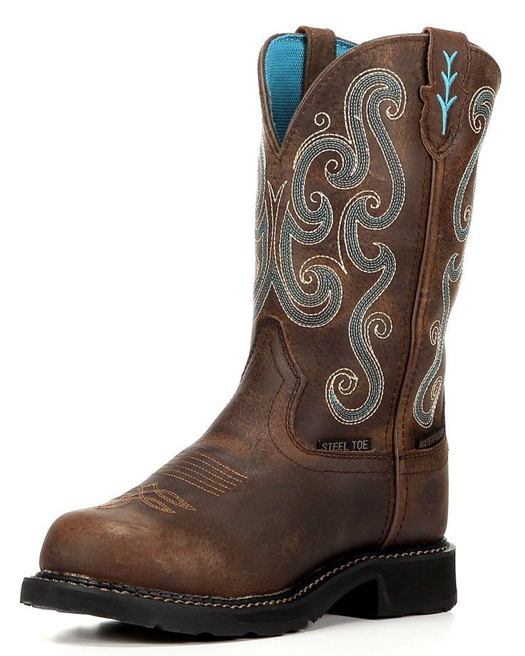 Women's Tan Jaguar Waterproof Steel Toe Boot,