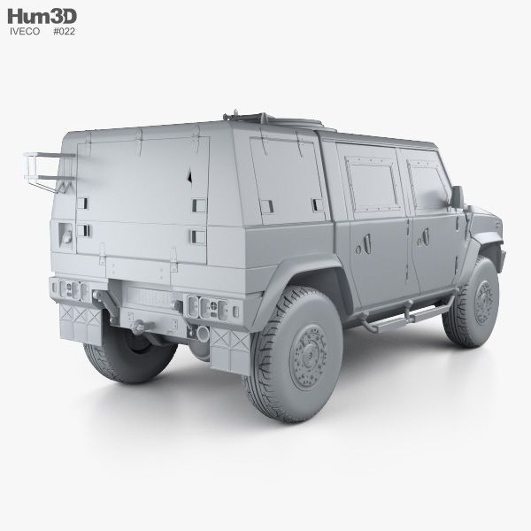 3d Model Of Iveco Lmv Lince 2001 Nel 2020