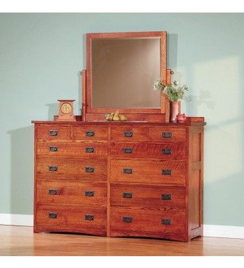 Vintage Craft Mule Chest By Rogue Valley Furniture Our Twelve-Drawer Mule Chest features ample interior space for your garments, with one row of quarter-width drawers across the top of the dresser and four rows of half-width drawers.