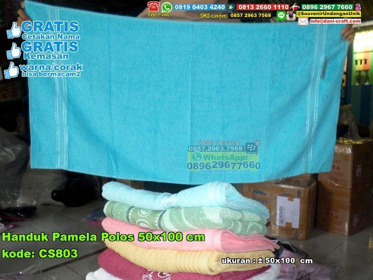 Handuk Pamela Polos 50x100 Cm Wa : 0896-7465-4330 #HandukPamela #HargaPamela #SouvenirPernikahanMurah