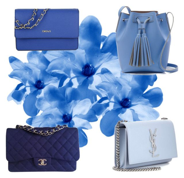Blue bags by stefania-fornoni on Polyvore featuring polyvore, fashion, style, J.Crew, Chanel, Yves Saint Laurent, DKNY and clothing