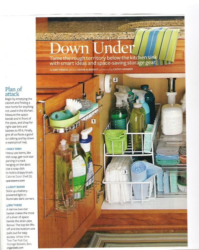 under the kitchen sink organization | How Do It. Getting organized will be my New Years resolution!!!