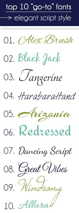 go-to fonts in elegant script style  <3 #10! i think thats what i bee getting when i get my tattoo