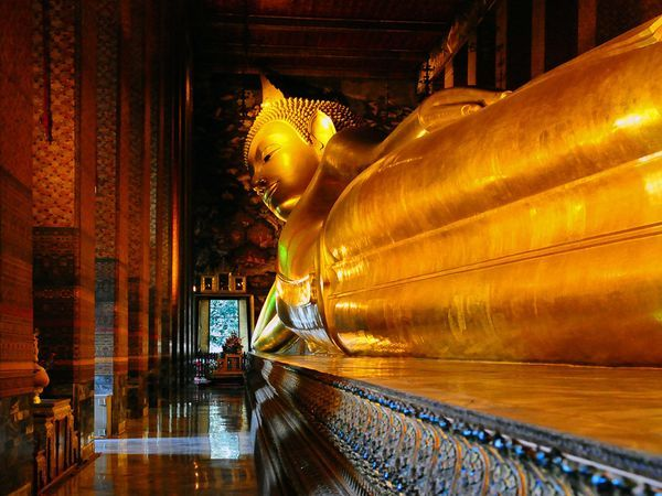 Bangkok. I could have pinned a cityscape to represent Bangkok but I couldn't pinpoint where my dad was in that so I thought I'd go for The Reclining Buddha as I know my dad went there. I'll go there too one day and have lovely thoughts about my dad while I'm there. He loved this and I bet I will too! :)