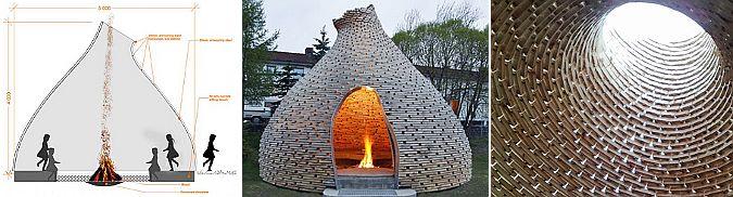 la cabaña del fuego – outdoor fireplace Norway Situada en un área de juegos infantiles la cabaña en un lugar de encuentro al aire libre donde los niños pueden reunirse en torno al juego y contar historias.