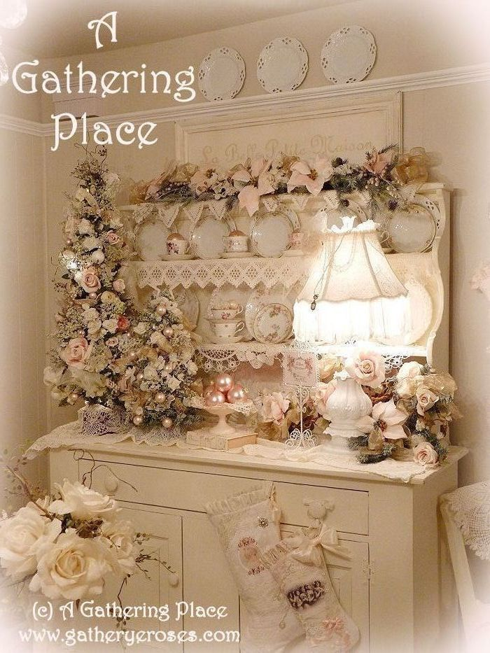 821 best images about shabby romantic christmas on for Shabby chic christmas