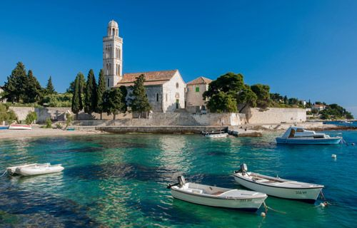 Where to go on holiday in August | Hvar Croatia | http://www.weather2travel.com/holidays/where-to-go-on-holiday-in-august-for-the-best-hot-and-sunny-weather.php #travel #holidays