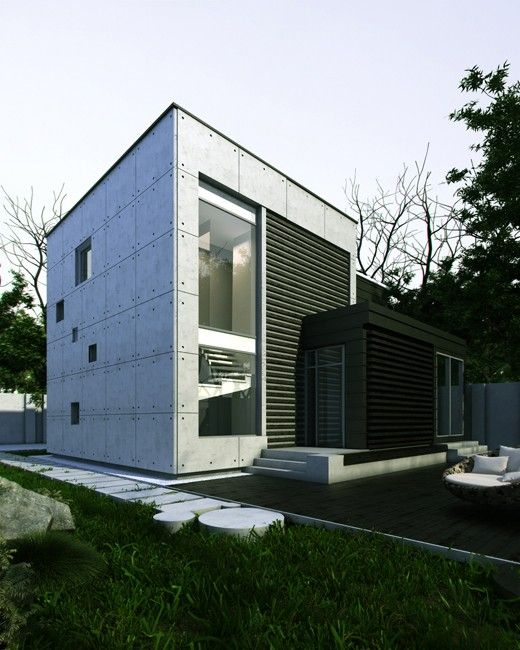 Фото — Сoncrete cube — Architecture