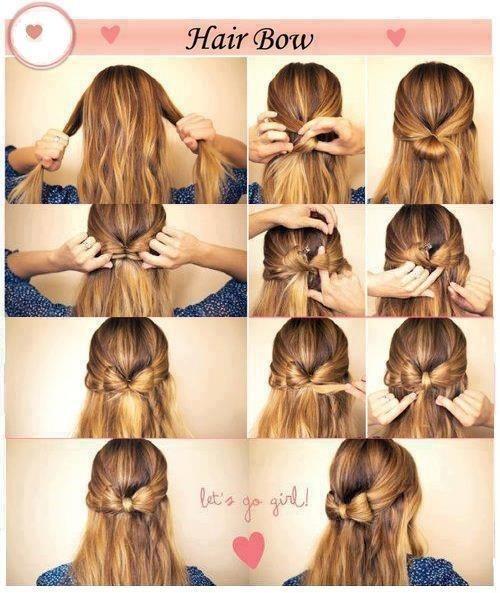 truco para hacer un peinado con forma de lazo en tu pelo